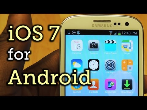 iOS 7 Home & Lock Screen for Android - Samsung Galaxy S3 [How-To]