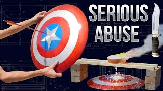 Destroying Captain America's Shield - Real Life