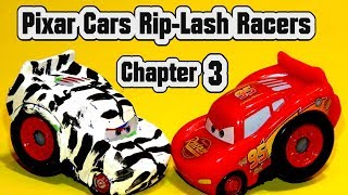 Pixar Cars Rip Lash Racers Painted Zebra Lightning McQueen Chapter 3 races Lightning McQueen BONUS
