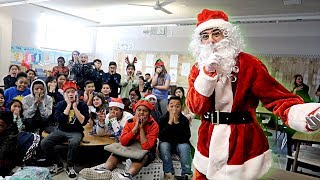 VISITING MY OLD SCHOOL AS SANTA CLAUS! (SURPRISING FANS IN CLASS) | Pranks | FaZe Rug