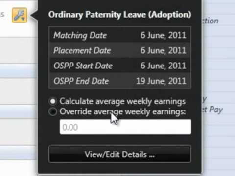 BrightPay Payroll Software UK: Ordinary Statutory Paternity Pay - Adoption