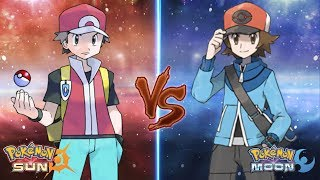 Pokemon Sun and Moon: Trainer Red Vs Trainer Hilbert (Red Vs Hilbert)
