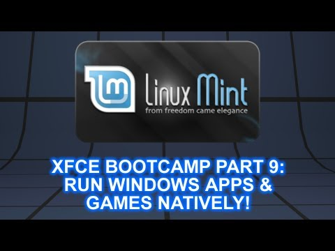 Linux Mint 13 XFCE Bootcamp: #9 Run Windows Programs