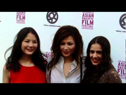 "Los Angeles Asian Pacific Film Festival: ""Nice Girls Crew"" pose on red carpet!"