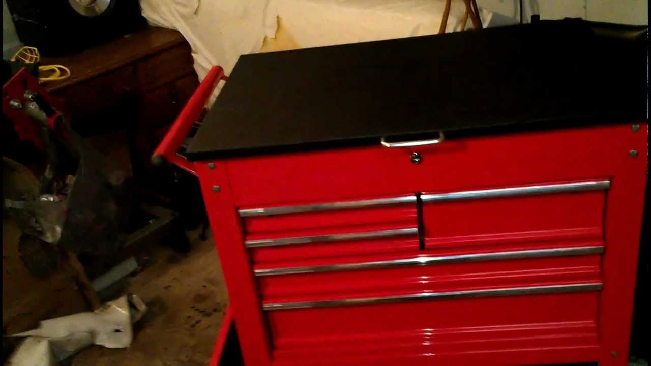 Harbor Freight 5 Drawer Tool Cart : Harbor freight drawer cart mod top and tray youtube