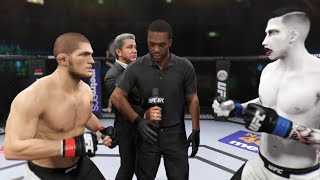 Khabib Nurmagomedov vs. Marilyn Manson (EA sports UFC 2) - CPU vs. CPU