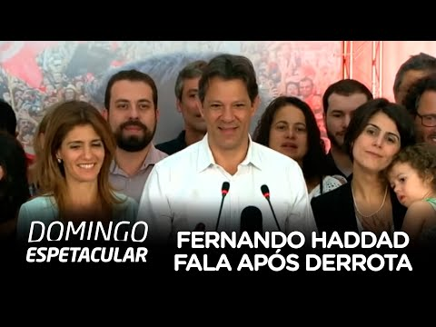 Fernando Haddad fala após derrota contra Jair Bolsonaro