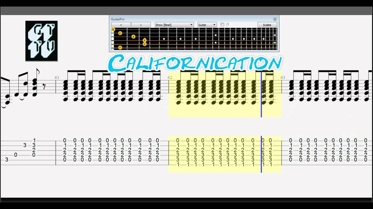 CALIFORNICATION Chords - Red Hot Chili Peppers | E-Chords
