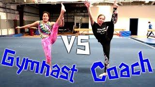Gymnast VS Coach ABC Gymnastics Challenge| Rachel Marie