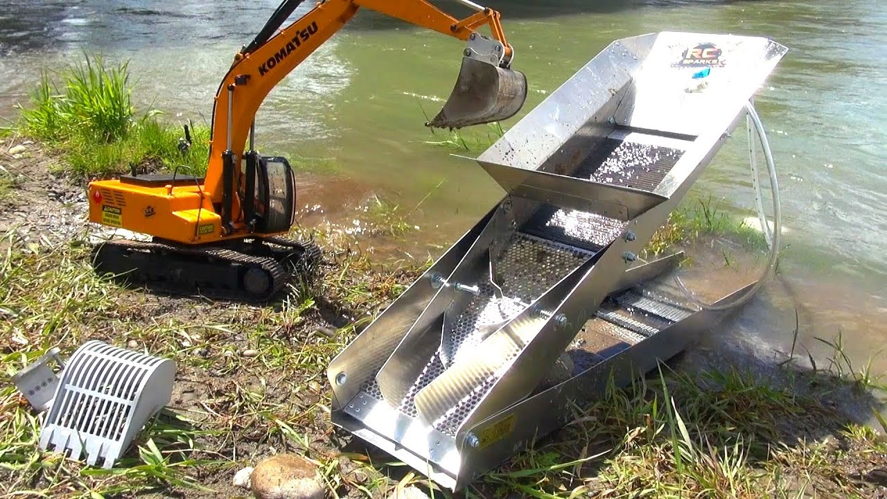 RC ADVENTURES - GOLD Dredge & Sluice Plant with an Earth ...