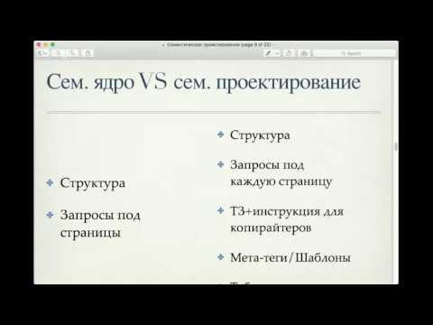 [Вебинар]: Семантическое проектирование сайта