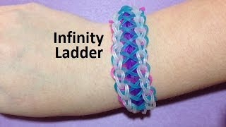 How to Make an Infinity Ladder Bracelet on the Rainbow Loom - Original Design