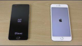 OnePlus 3 VS Apple iPhone 6S Plus - Speed Test! (4K)