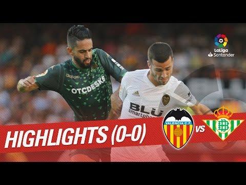 Resumen de Valencia CF vs Real Betis (0-0)