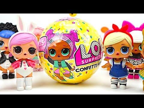 ЛОЛ сюрпризы 3 серия конфетти играем с куколками LOL