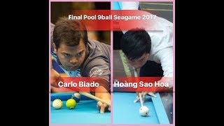 Carlo Biado vs Hoàng Sao Hỏa - Final Pool 9 ball SEAGAME 2017