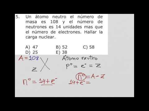 Como calcular la carga nuclear en un átomo neutro