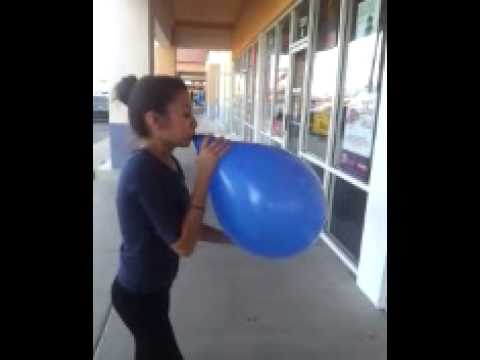 Balloon Pops Girl Has No Fear video