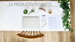 HEALTHY PRODUCTIVITY HABITS » + printable guide