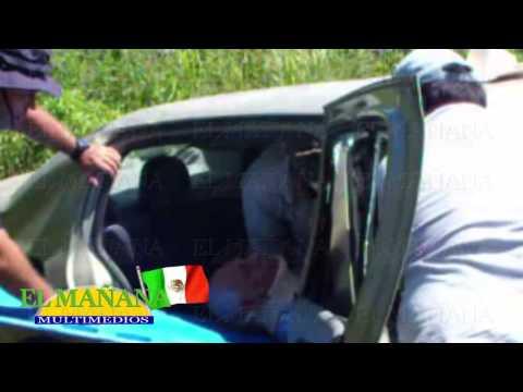 Volcó coche en la Valles – Mante: Anciano herido