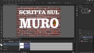 PhotoShop CS6 - Scitta su muro