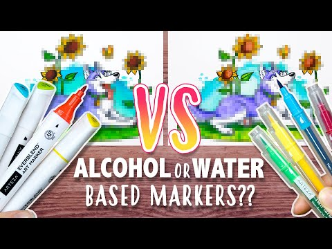 MARKERS: ALCOHOL OR WATER BASED? - Which is Better??  - Marker Test & Comparison