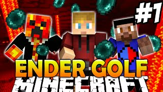 Minecraft THE PACK GOLF #1 with The Pack (Minecraft Enderpearl Golf)
