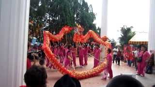 Dragon Dance to Welcome the Chinese New Year in Malaysia