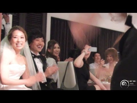フラッシュモブ サプライズ 披露宴 「what Makes You Beautiful」 one Direction   flash Mob Surprise Wedding video