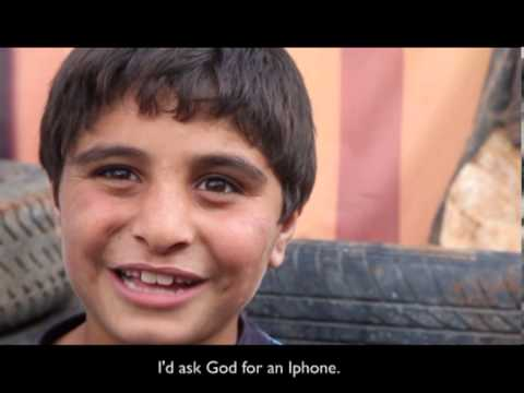 What would Syrian refugee children ask God for?