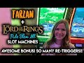 AWESOME BONUS!! Lord Of The Rings Rule Them All Slot Machine!! Re Triggered All The Way To The Top!!