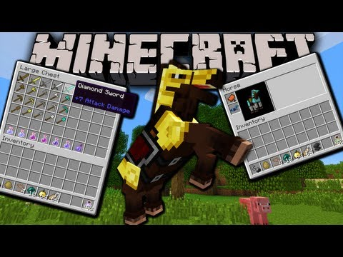 Minecraft 1.6 Snapshot: Horse Inventory, Power Stats, Super Items, Music & Sound Packs 13w21a