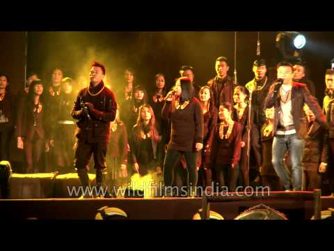 Kirk Franklin's 'Looking for you' by various Naga artist at Hornbill Festival Closing ceremony