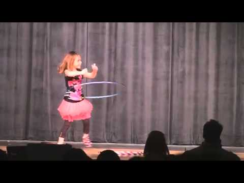 Natalie's Kindergarten Talent Show Hula Hoop video