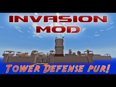 Der Invasion Mod (Tower Defense) - Mod Vorstellung - Minecraft [HD]