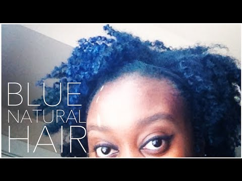 i dyed my natural hair blue youtube