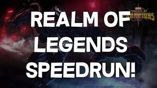 Realm of Legends Speedrun - Cleared in 39 Minutes and 21 Seconds! - Marvel Contest of Champions
