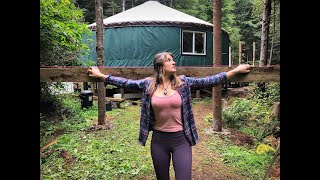 This Yurt Will Blow Your Mind - Living Off The Grid In a Yurt Ep. 49