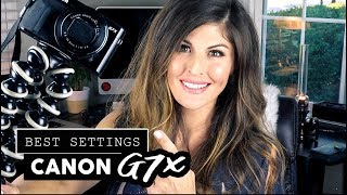 BEST CAMERA SETTINGS for VLOGGING on Canon G7x Mark ii