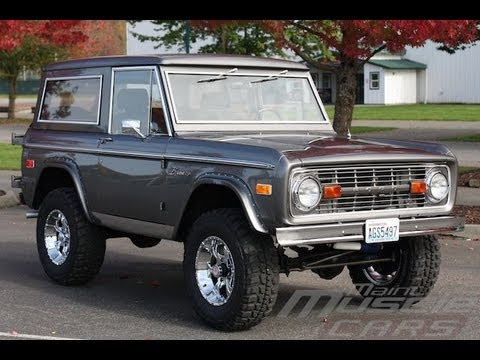1974 ford bronco gray youtube