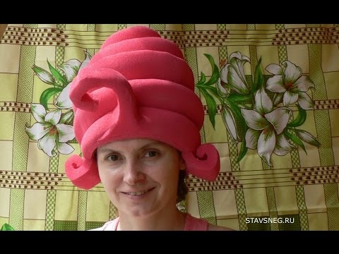 Фиксики. Как сделать шапочку-парик для костюма Маси.