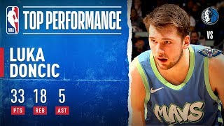 Luka Sets CAREER-HIGH 18 REB!
