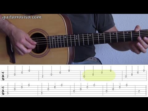 FP 01 - ARPEGIOS LECCION GUITARRA FACIL PRINCIPIANTES APRENDIZ FINGERPICKING leer tablaturas tabs