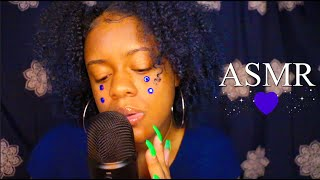 ASMR - 💙 STICKY MOUTH SOUNDS + VISUAL TRIGGERS 💙