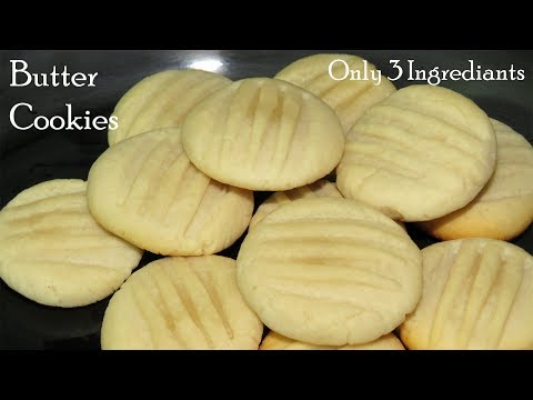 Butter Cookies Recipe without Oven-Eggless Butter Cookies Recipe in telugu-Homemade Biscuits Recipe