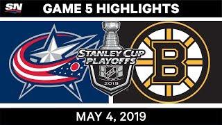 NHL Highlights | Blue Jackets vs. Bruins, Game 5 – May 4, 2019