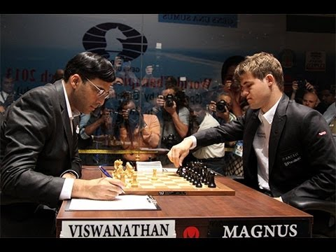 Amazing Game: World Chess Ch. 2013 - Game 9: Vishy Anand vs Magnus Carlsen : Nimzo-Indian Defense