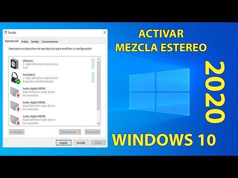 Habilitar MEZCLA ESTEREO en WINDOWS 10! - (2020) - (Bien Explicado)