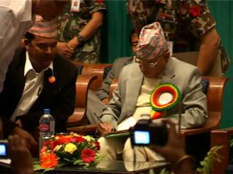 2 President Ram Baran Yadav's arrival to inaugurate the FECOFUN's 4th General Assembly.MPG