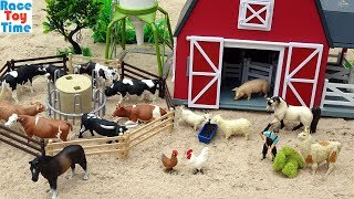 Cattle Transport Truck and Fun Farm Animals Toys For Kids
